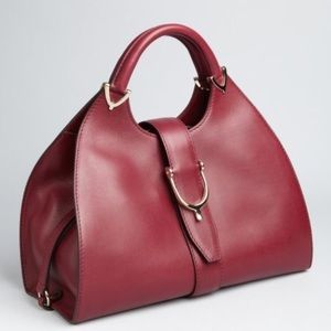 GUCCI CHERRY GLOSS TOP HANDLE STIRRUP SATCHEL TOTE